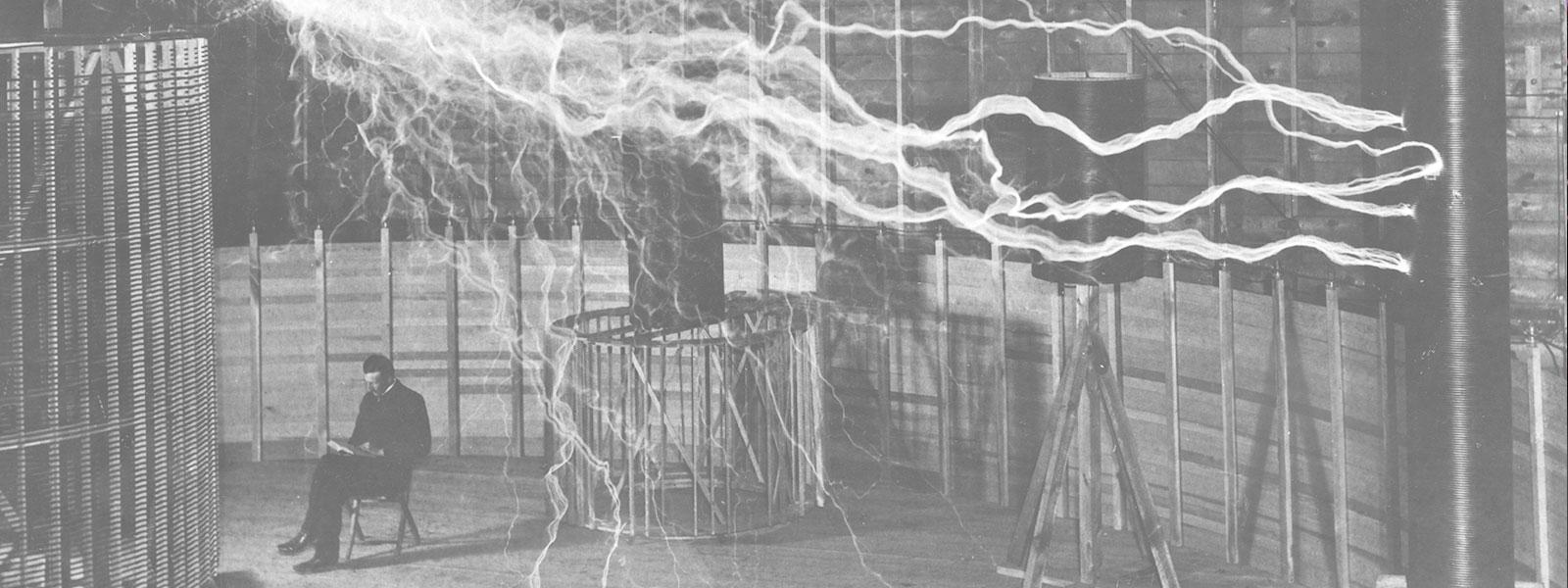 Nikola Tesla and his Colorado Springs oscillator