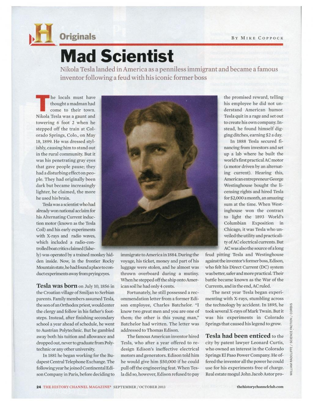 Preview of Mad Scientist article