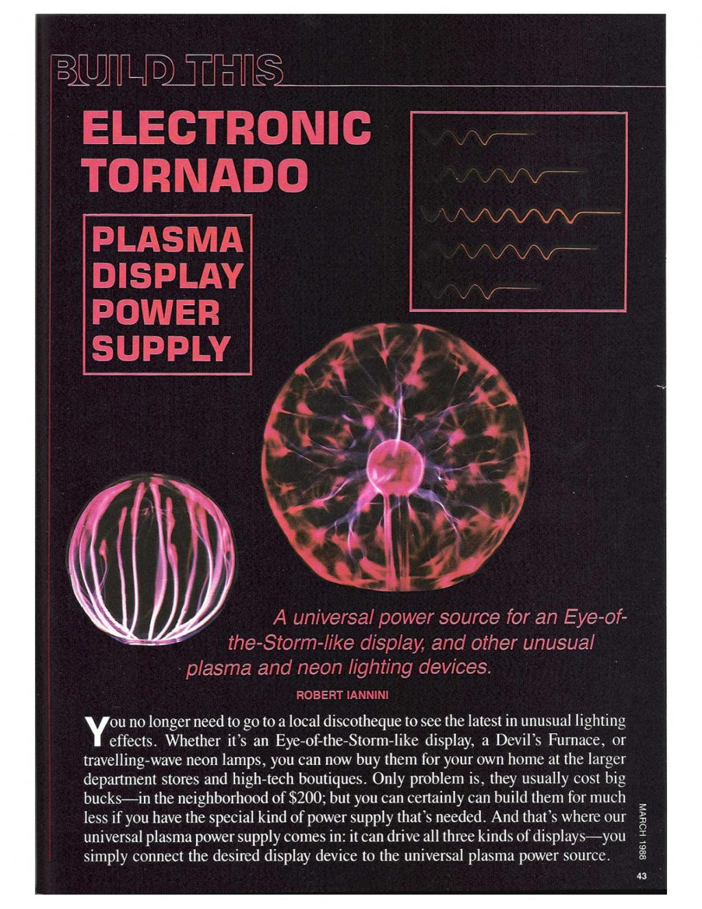 Preview of Electronic Tornado - Plasma Display Power Supply plan