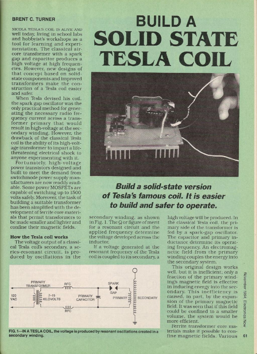 Preview of Build a Solid State Tesla Coil plan