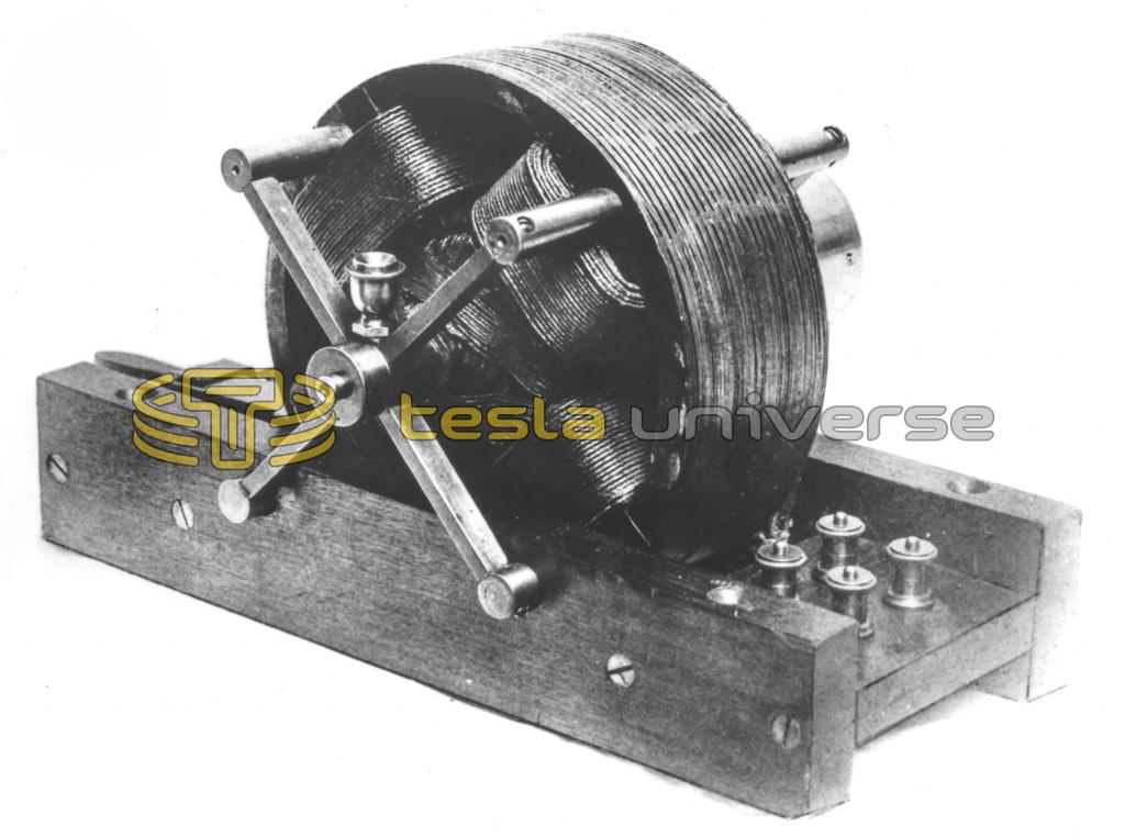 The first Nikola Tesla alternating current induction motor