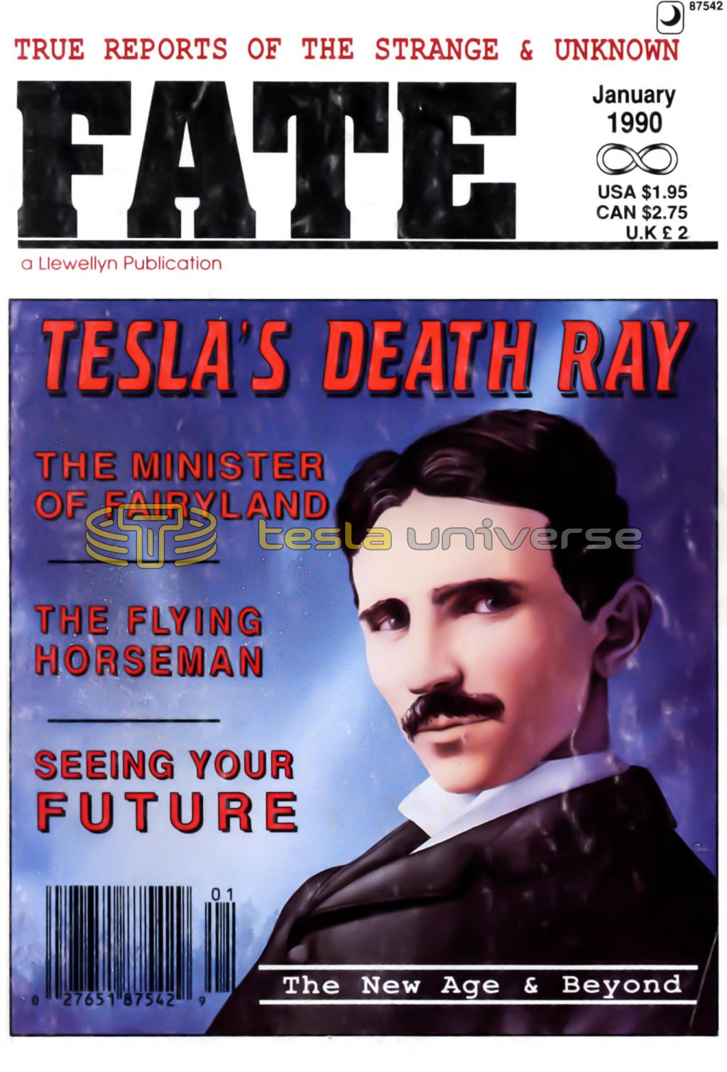Nikola Tesla cover of Fate magazine
