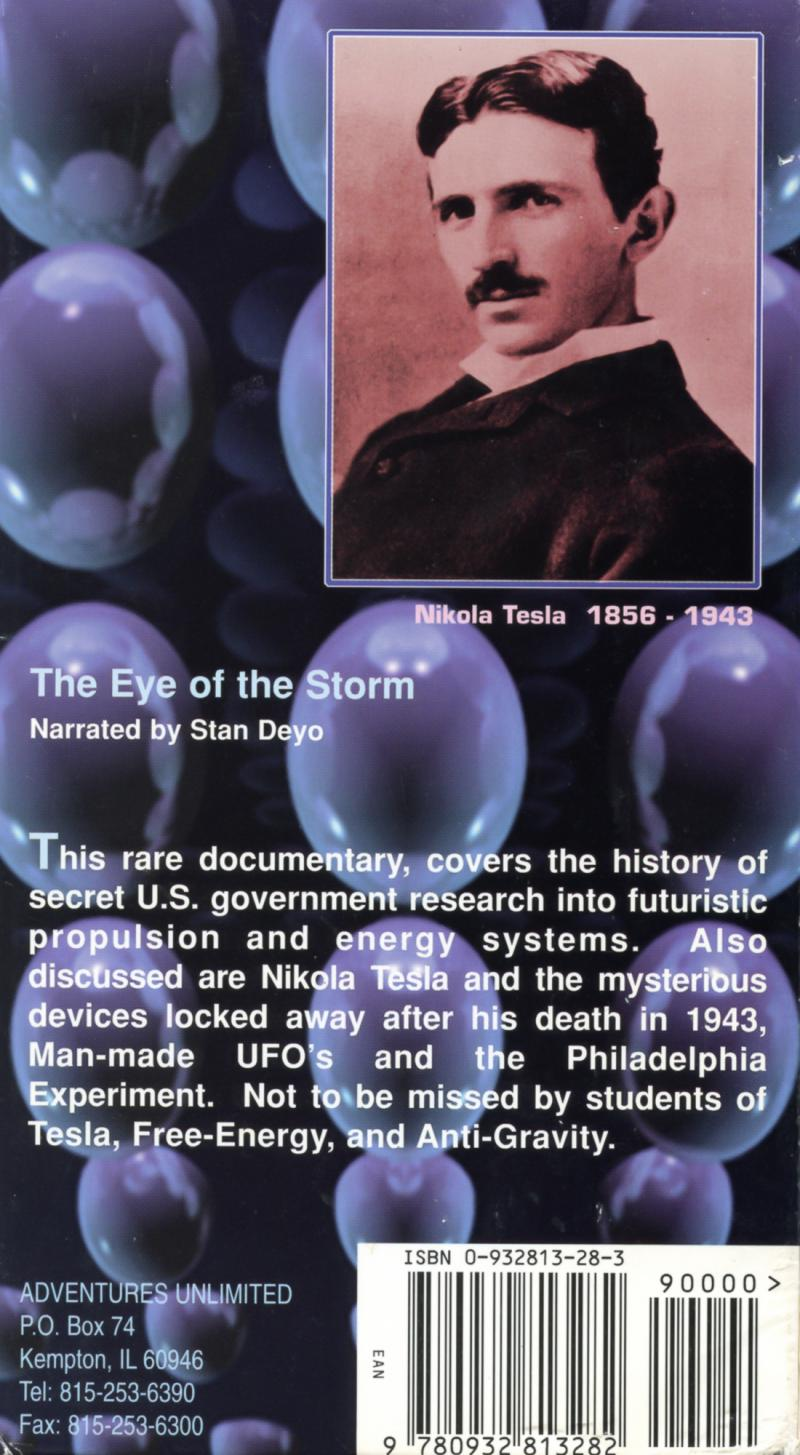 The Eye of The Storm - Back cover
