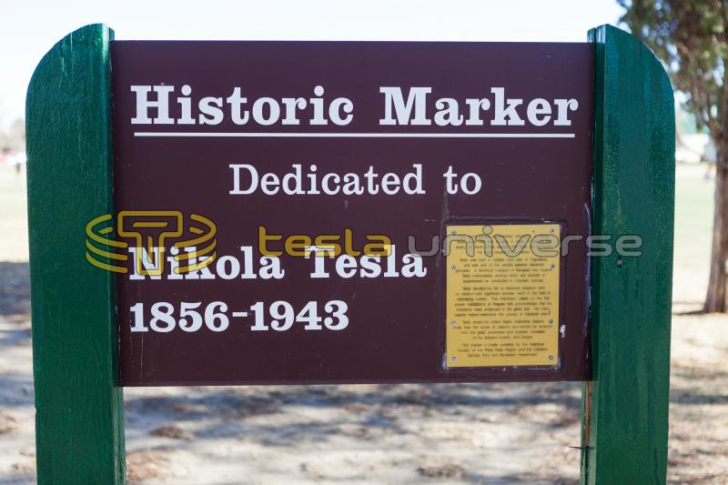 Tesla Historic Marker in Colorado Springs