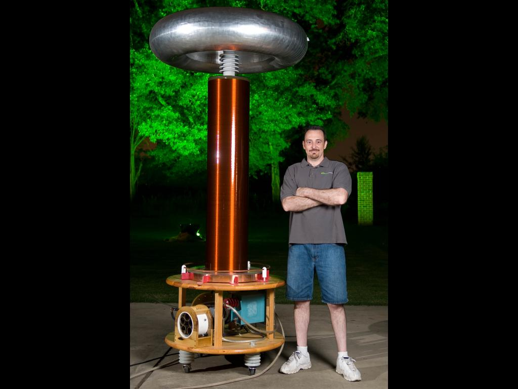 Cameron Prince with SSTC Tesla Coil