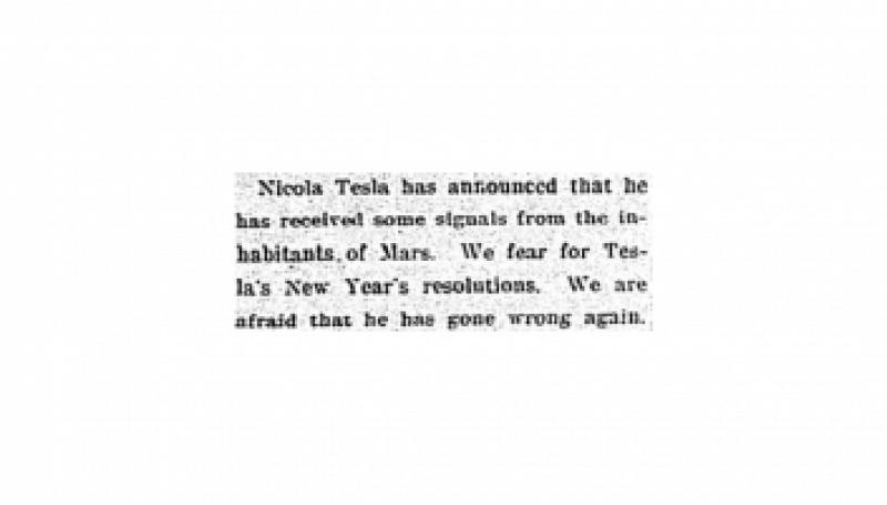 Preview of Tesla receives signals from Mars article