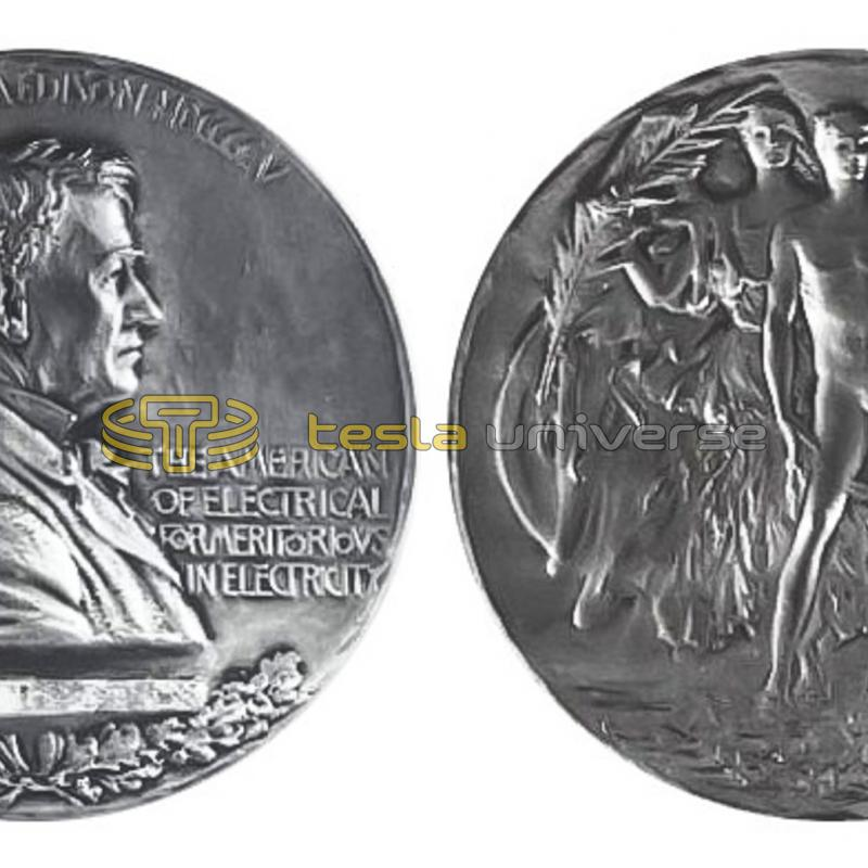 The Edison Medal awarded to Tesla in 1917