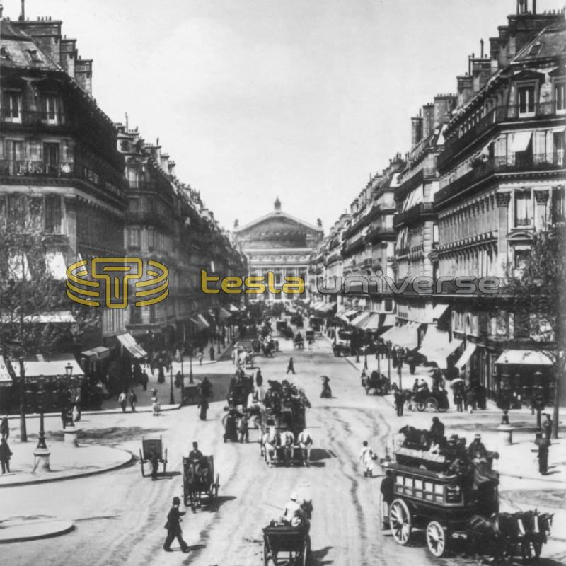 Paris, France from around the time when Tesla lived there