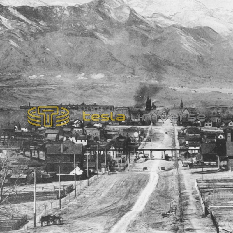 Colorado Springs, Colorado from around the time Tesla was there