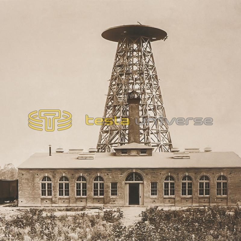 Tesla's Wardenclyffe lab and tower before dome construction began