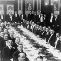 Nikola Tesla at the second banquet meeting of the Institute of Radio Engineers in 1915