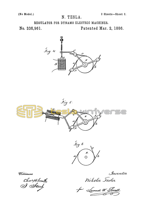 Brilliant Nikola Tesla U S Patent 336 961 Regulator For Dynamo Electric Wiring Digital Resources Talizslowmaporg