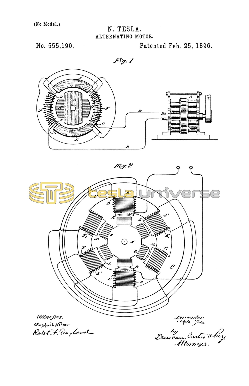 nikola tesla u s  patent 555 190