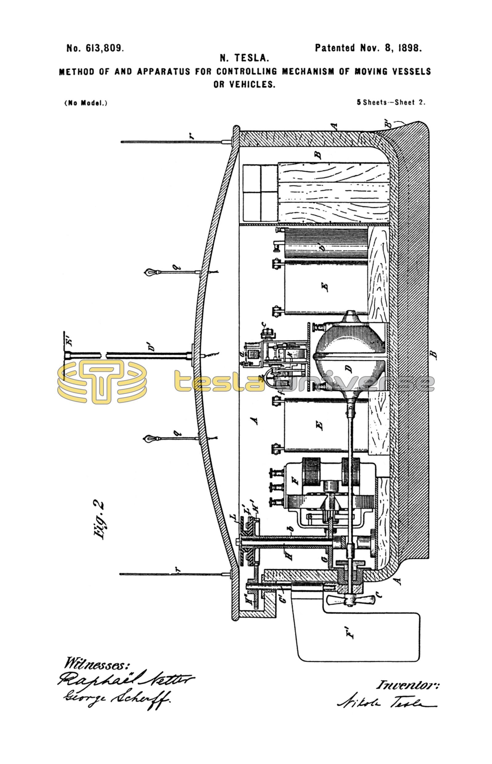 Nikola Tesla U S  Patent 613,809 - Method of and Apparatus for