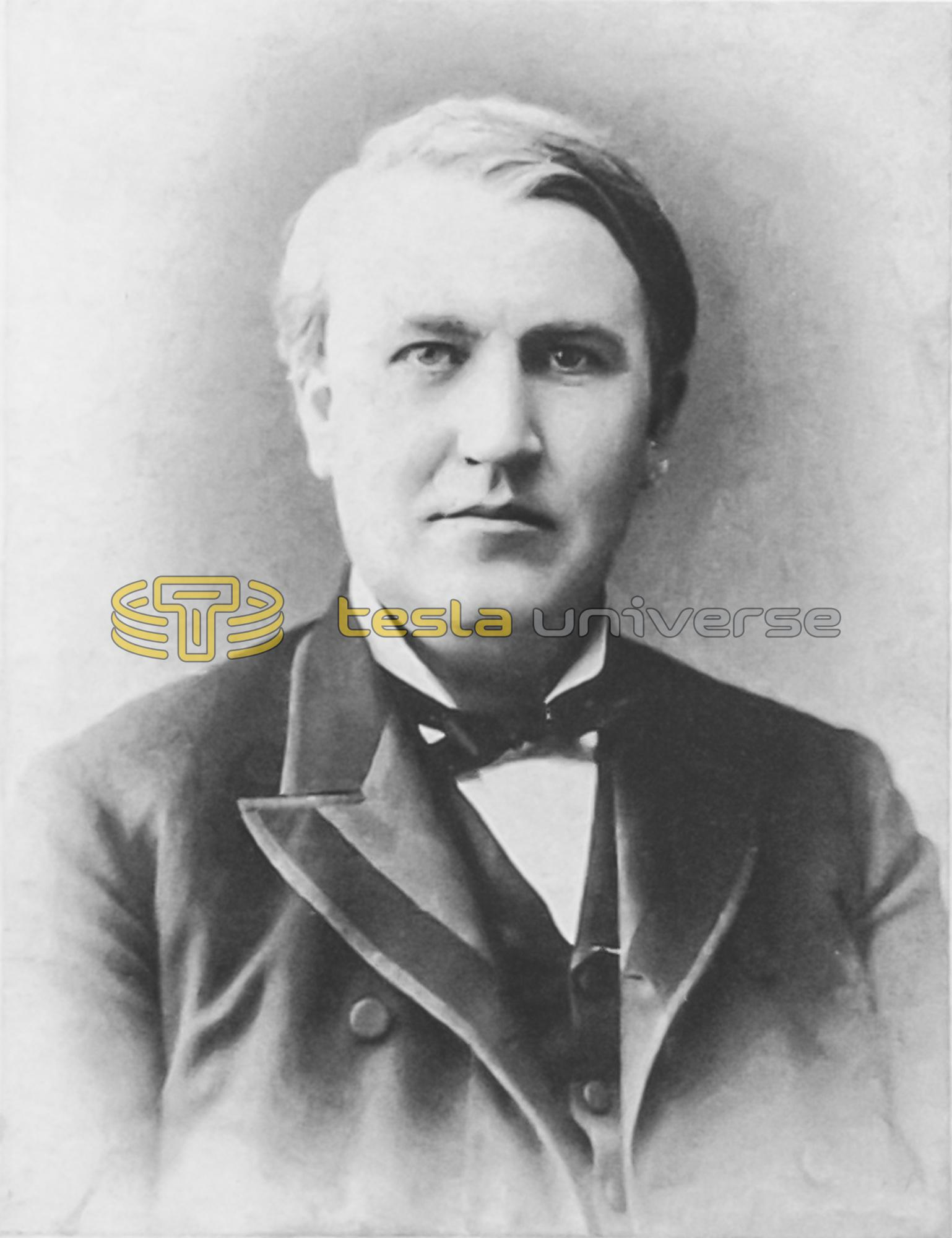 Tesla Archenemy Thomas Alva Edison Tesla Universe