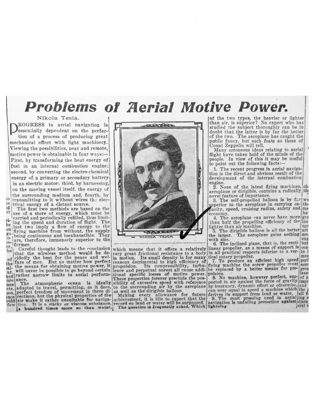 Preview of Problems of Aerial Motive Power article