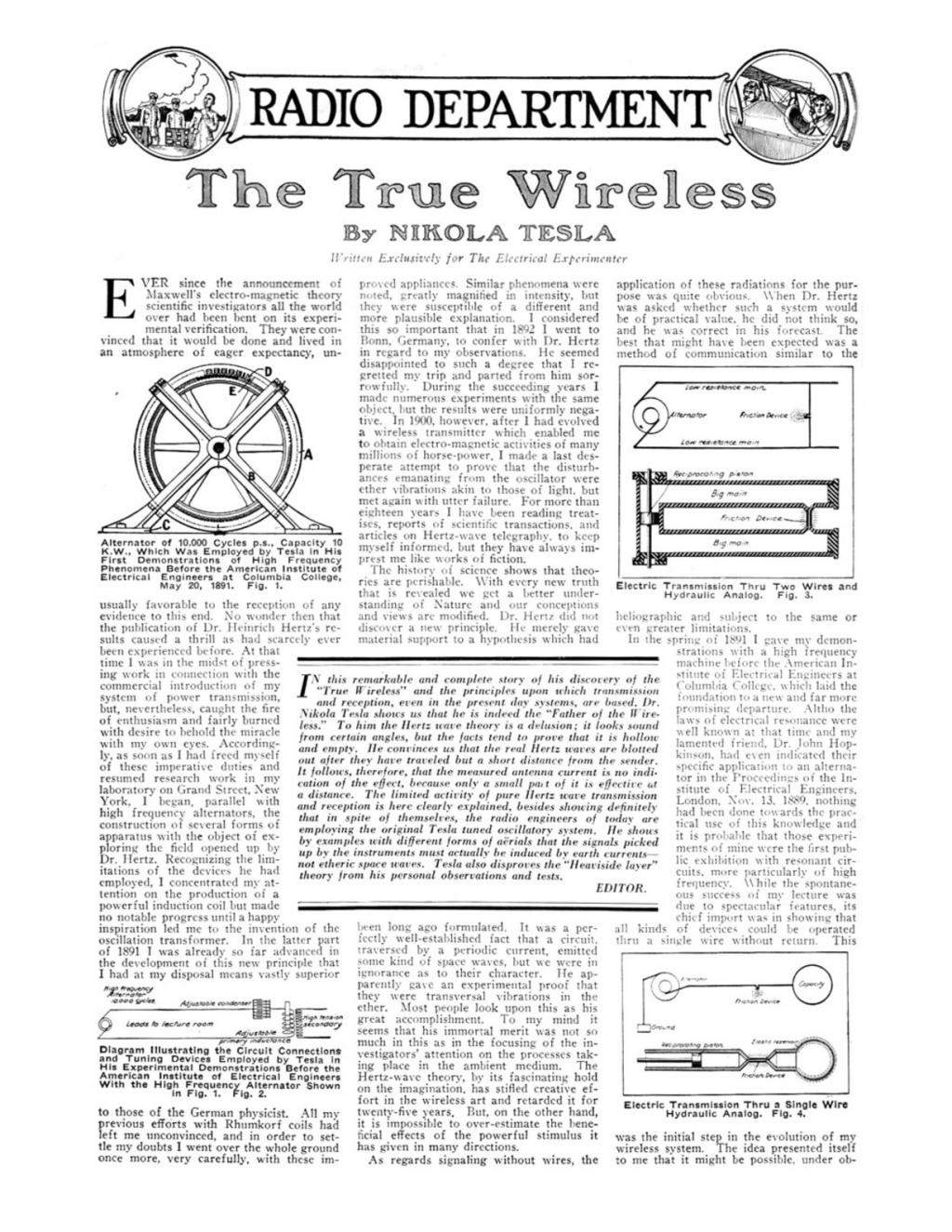 Preview of The True Wireless article