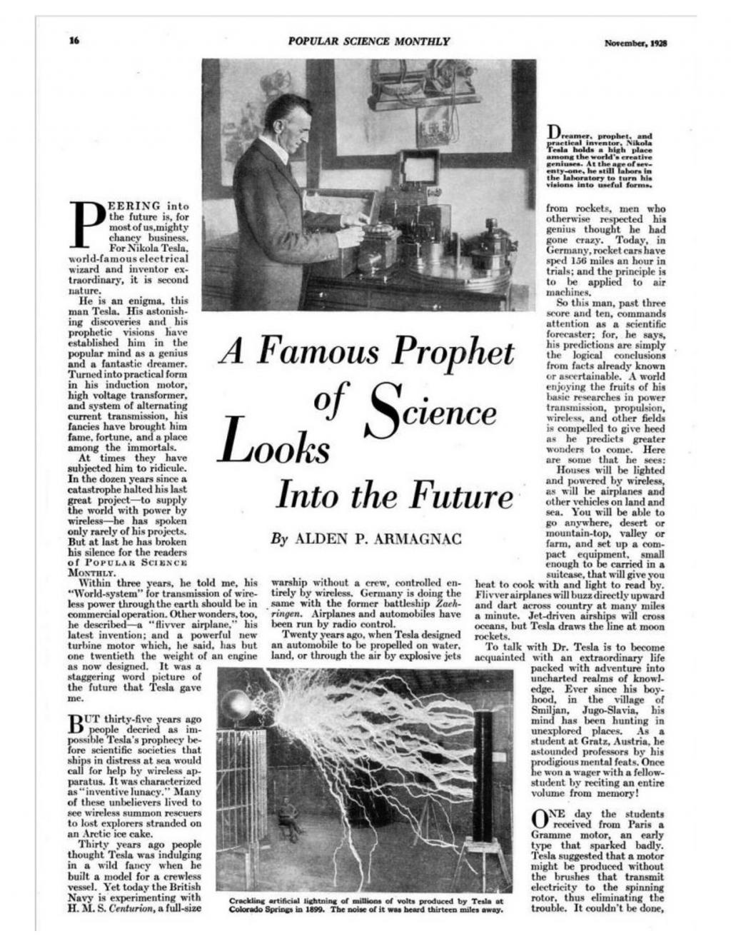Preview of A Famous Prophet of Science Looks Into the Future article