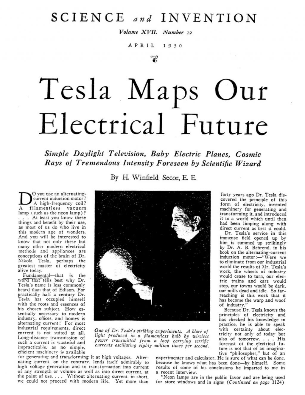 Preview of Tesla Maps Our Electrical Future article