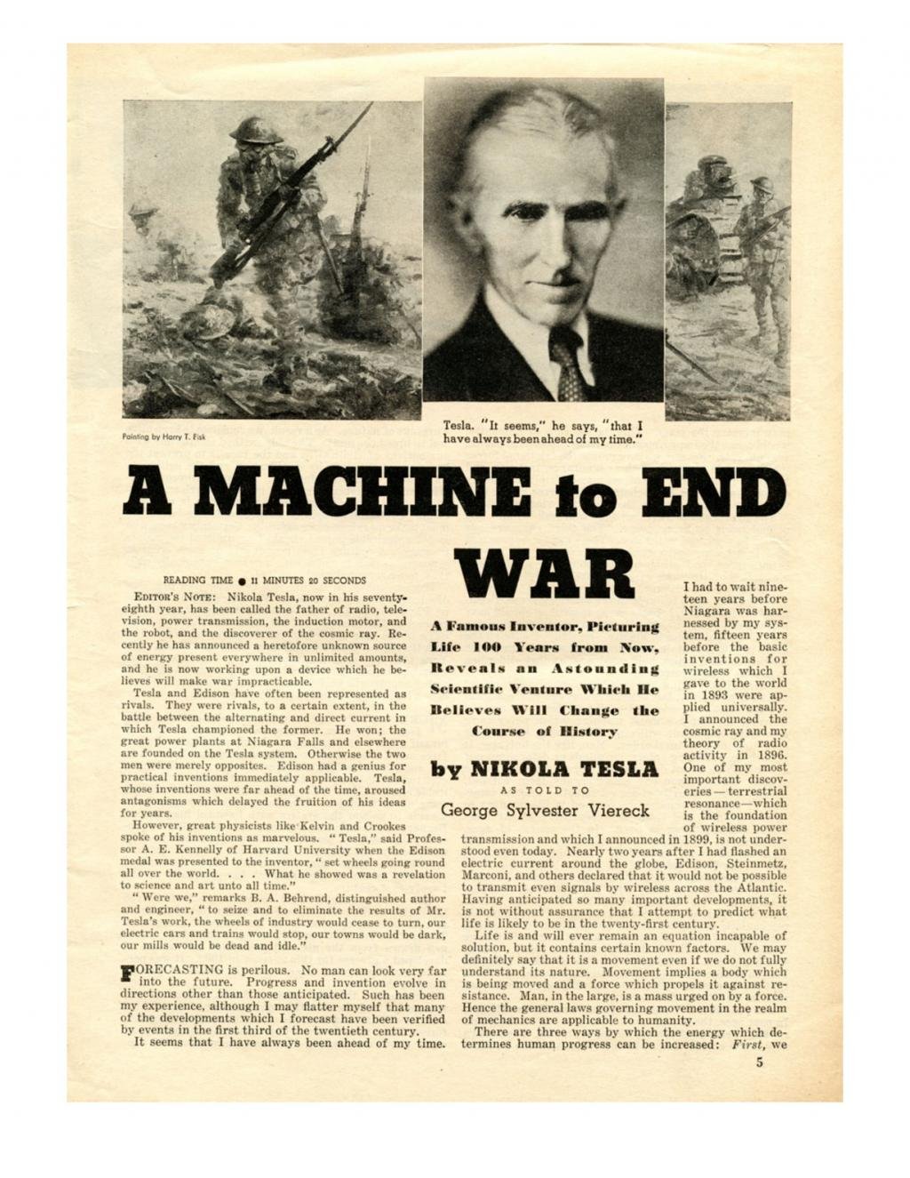 Preview of A Machine to End War * article