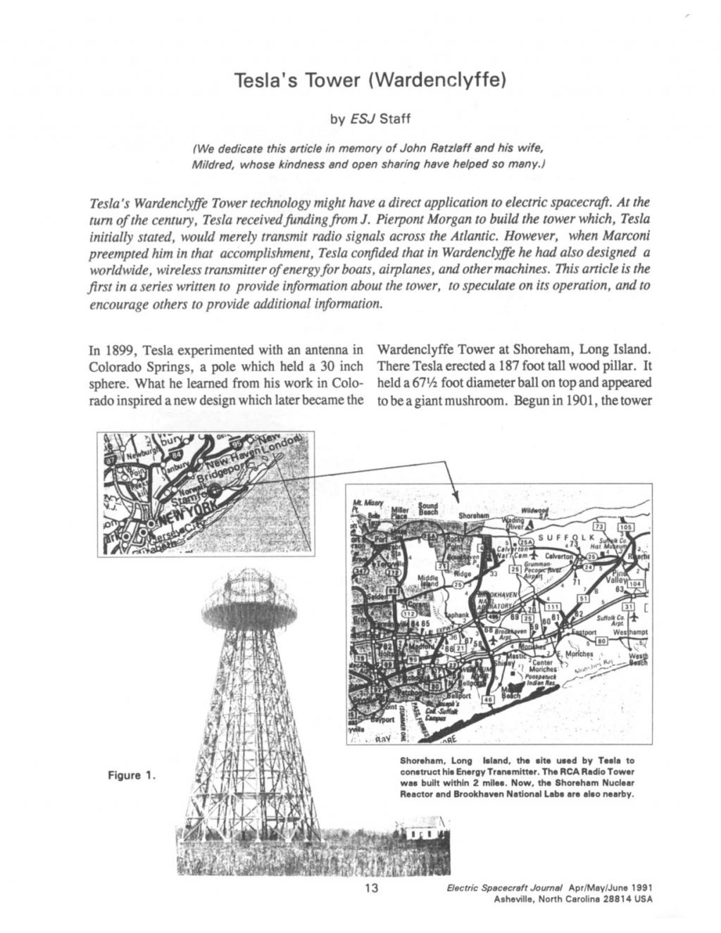Preview of Tesla's Tower - Wardenclyffe article