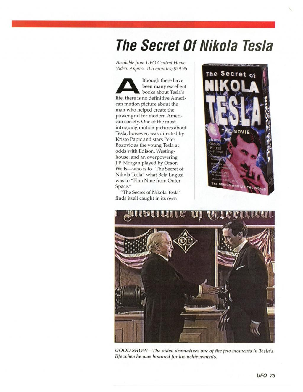 Preview of The Secret of Nikola Tesla article