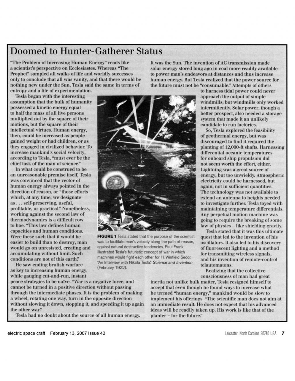 Preview of Doomed to Hunter-Gatherer Status article