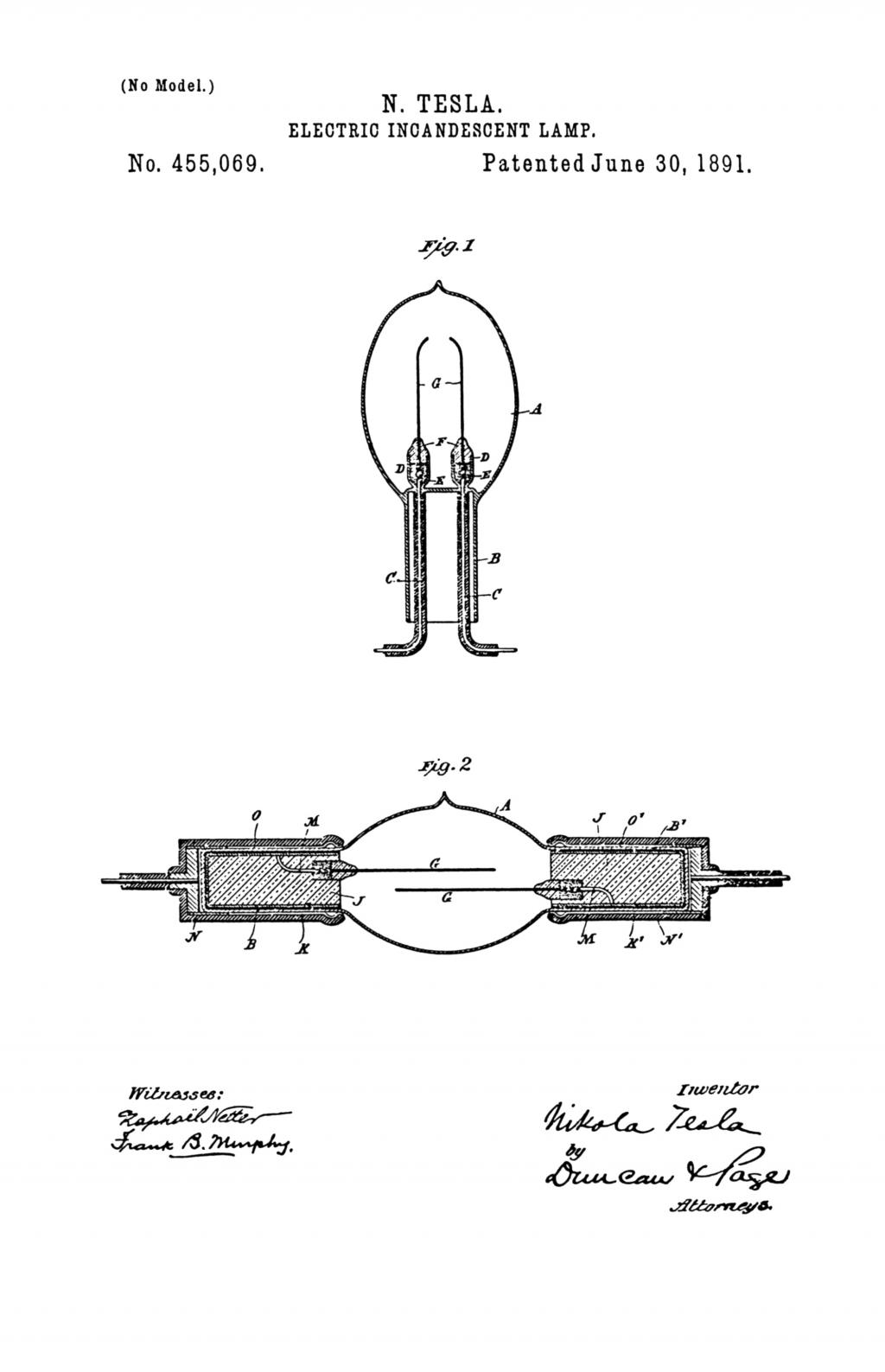 Nikola Tesla Patents on