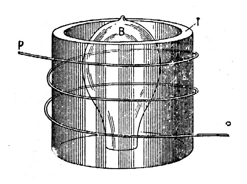 Tesla bulb inside a form with external winding