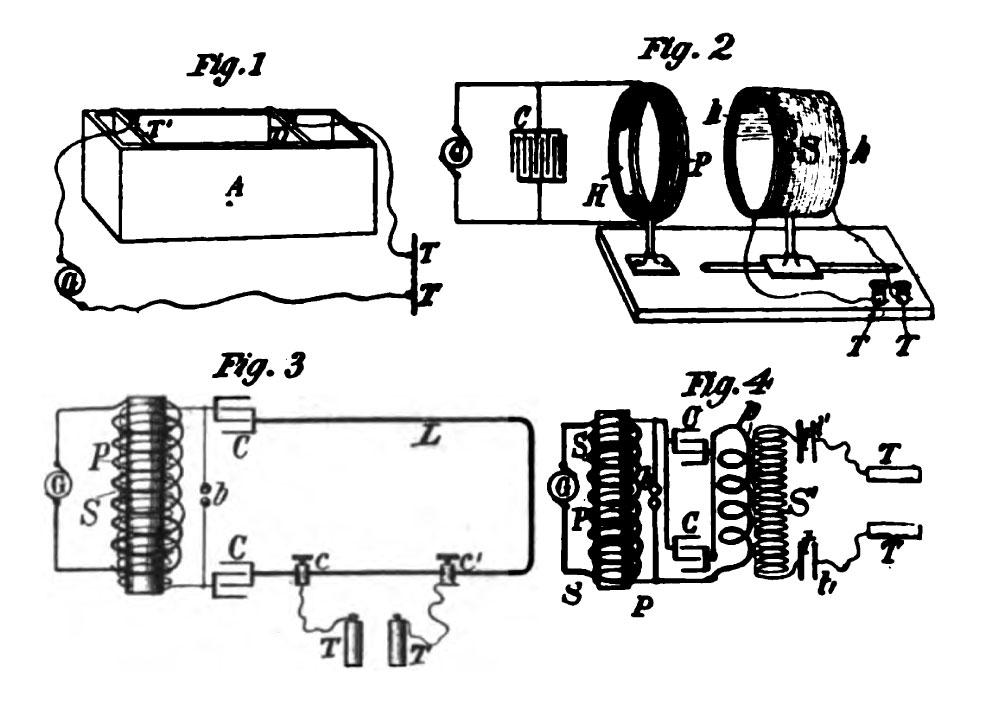 Patent drawings of Tesla's high-frequency oscillators for electro-therapy