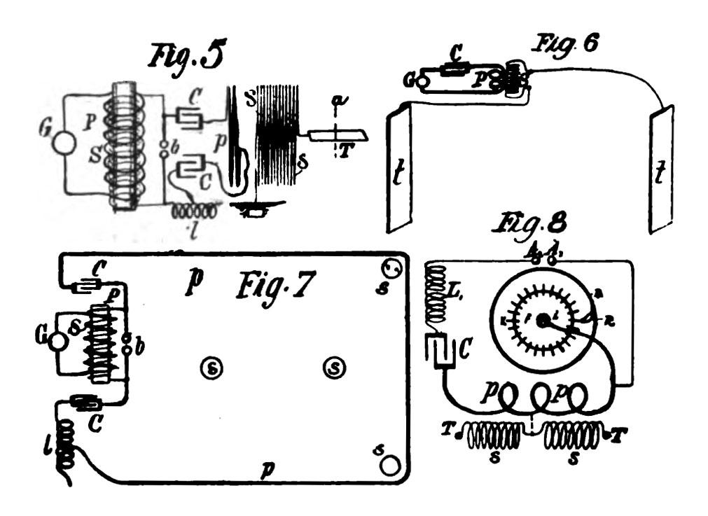 Drawings of Nikola Tesla's oscillators used for electrotherapy