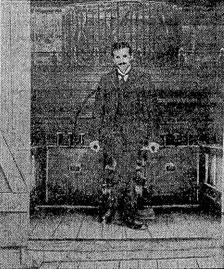 Tesla in His Workshop.