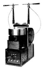 Tesla transformer with sealed mercury interrupter