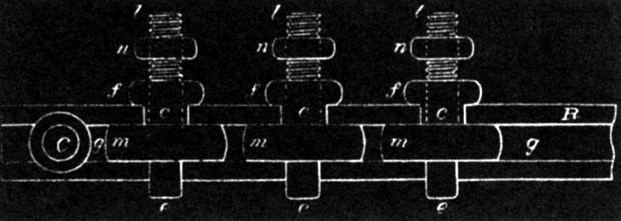 Figure 1 - Tesla's design for multiple series gaps.