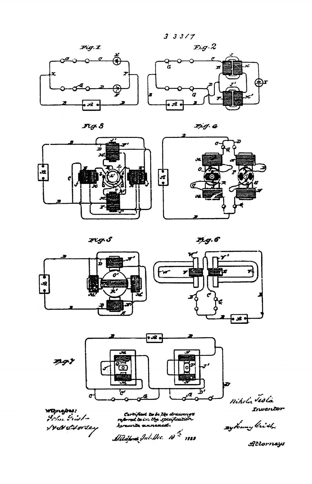 Nikola Tesla Canadian Patent 33317 - Improvements in Methods and Apparatus for Converting Alternating into Direct Currents - Image 1