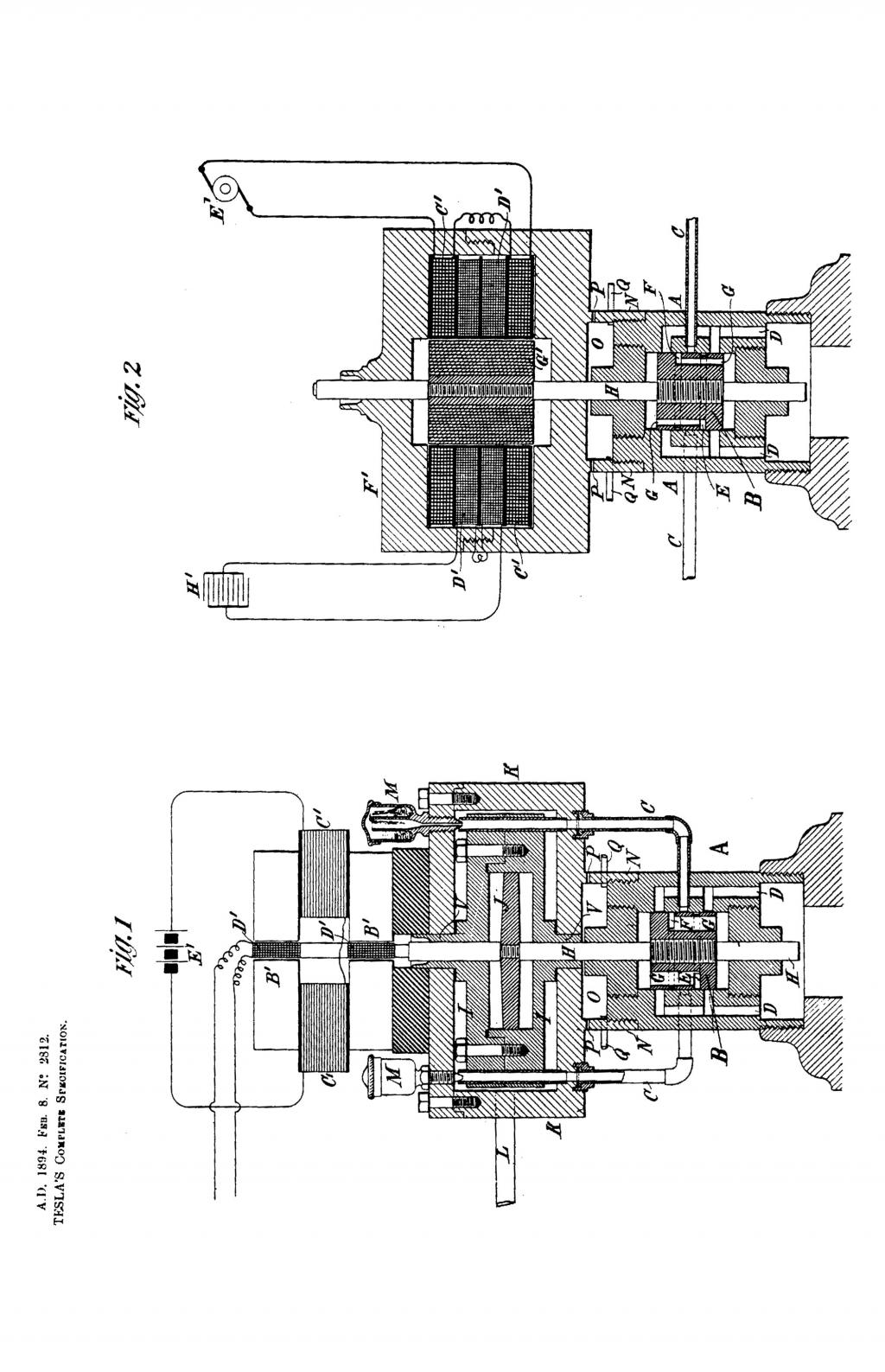Nikola Tesla British Patent 2812 - Improvements in Methods of and Apparatus for the Generation of Electric Currents of Defined Period - Image 1