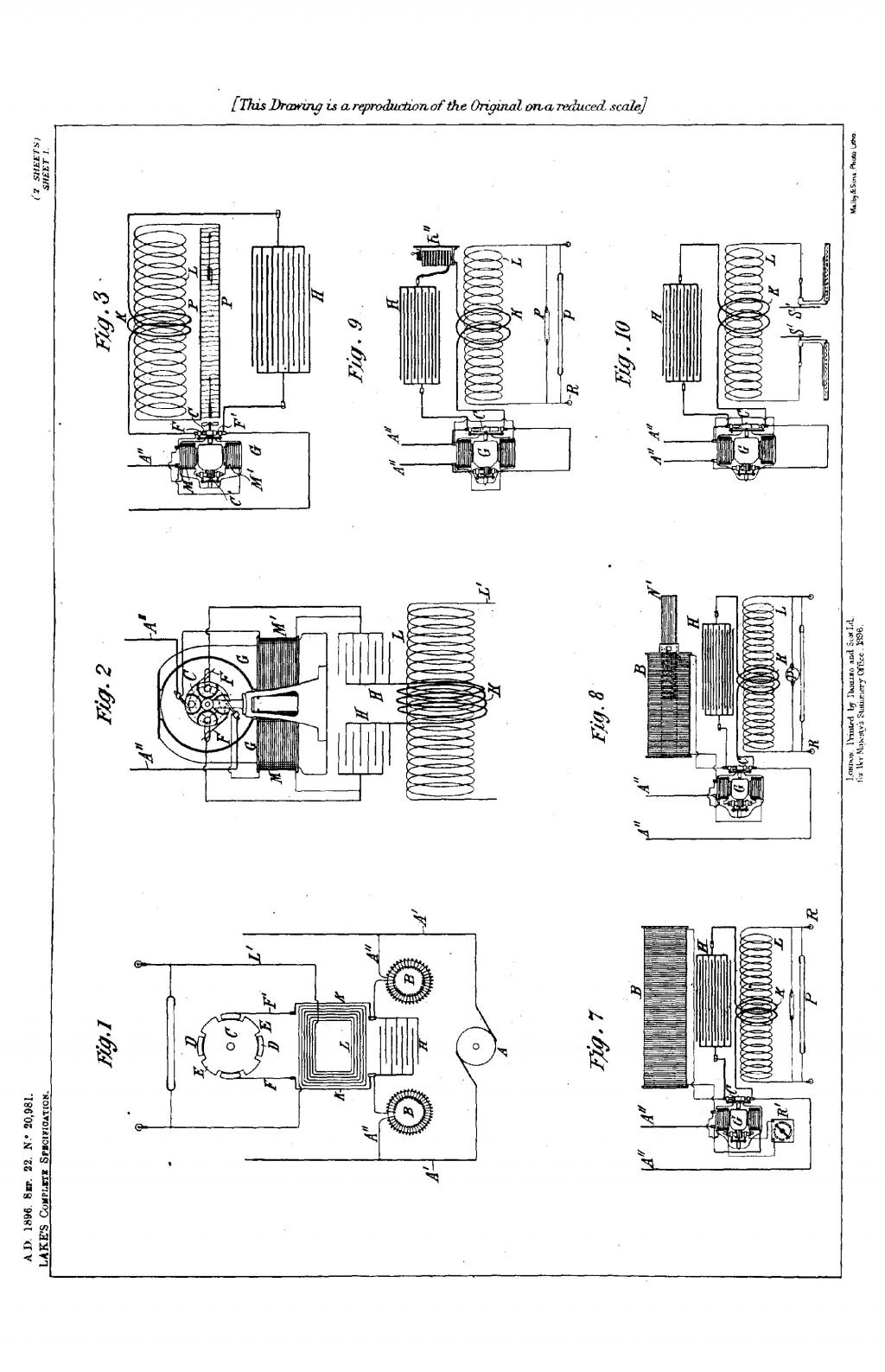 Nikola Tesla British Patent 20,981 - Improvements Relating to the Production, Regulation, and Utilization of Electric Currents of High Frequency, and to Apparatus Therefor - Image 1