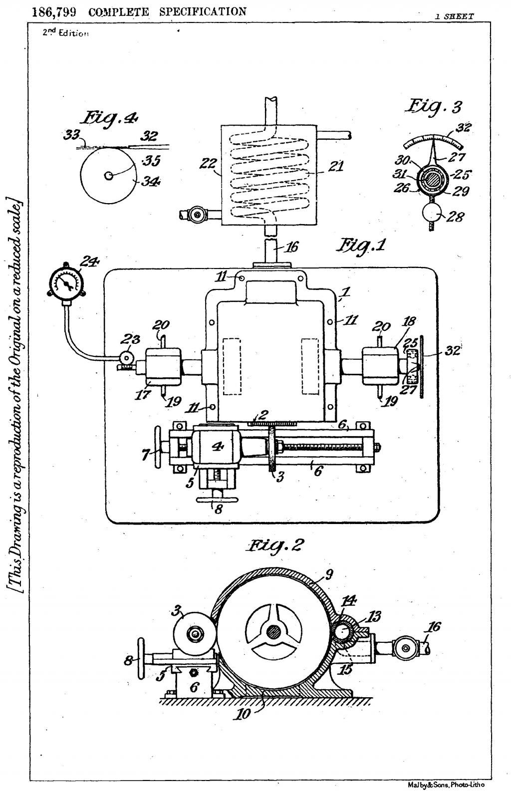 Nikola Tesla British Patent 186,799 - Process of and Apparatus for Balancing Rotating Machine Parts - Image 1