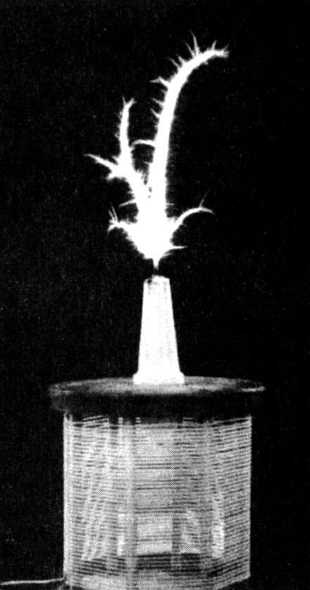 Etheric Discharge From Eric Dollard's Tesla Magnifying Transmitter.