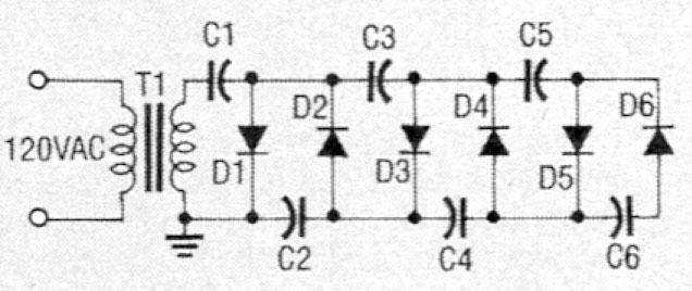 Circuit for cascaded voltage doubler.