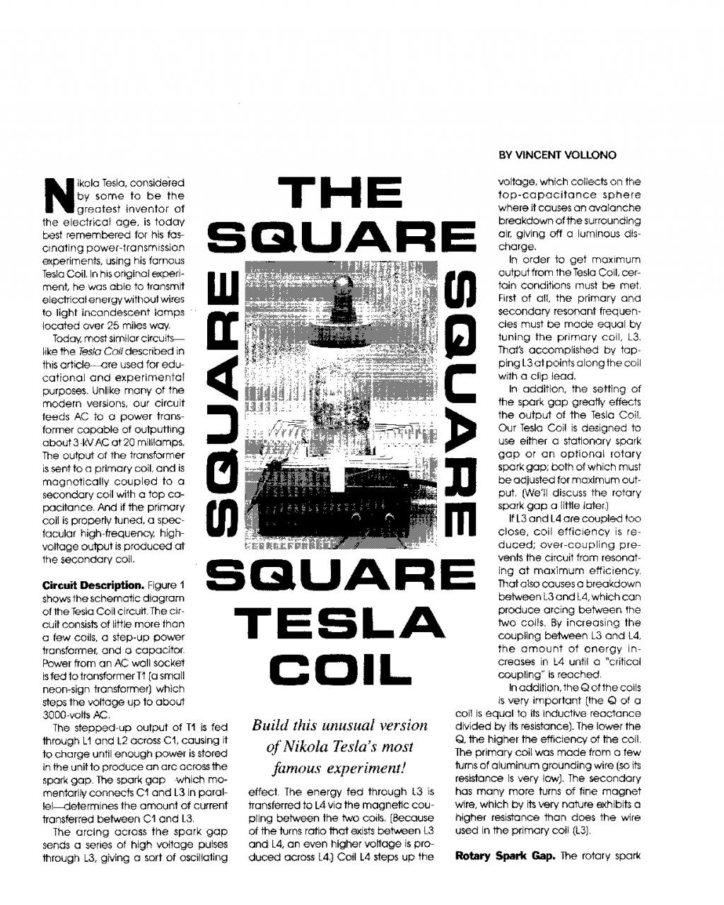 Preview of The Square Tesla Coil plan