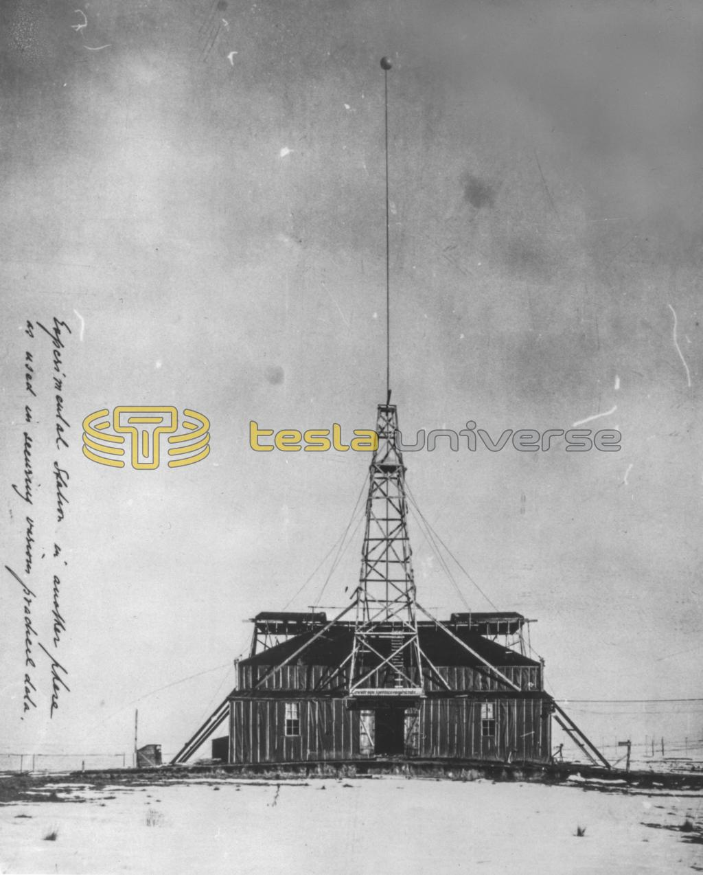 Front view of Nikola Tesla's Colorado Springs Experimental Station