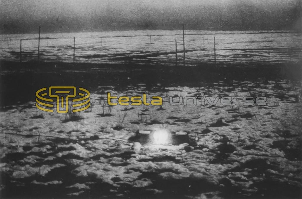 Nikola Tesla wireless power experiment at his Colorado Springs Experimental Station