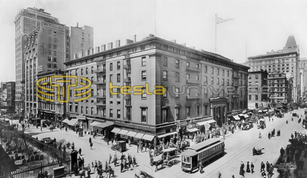 The Astor House, one of the New York's most luxurious hotels of the time