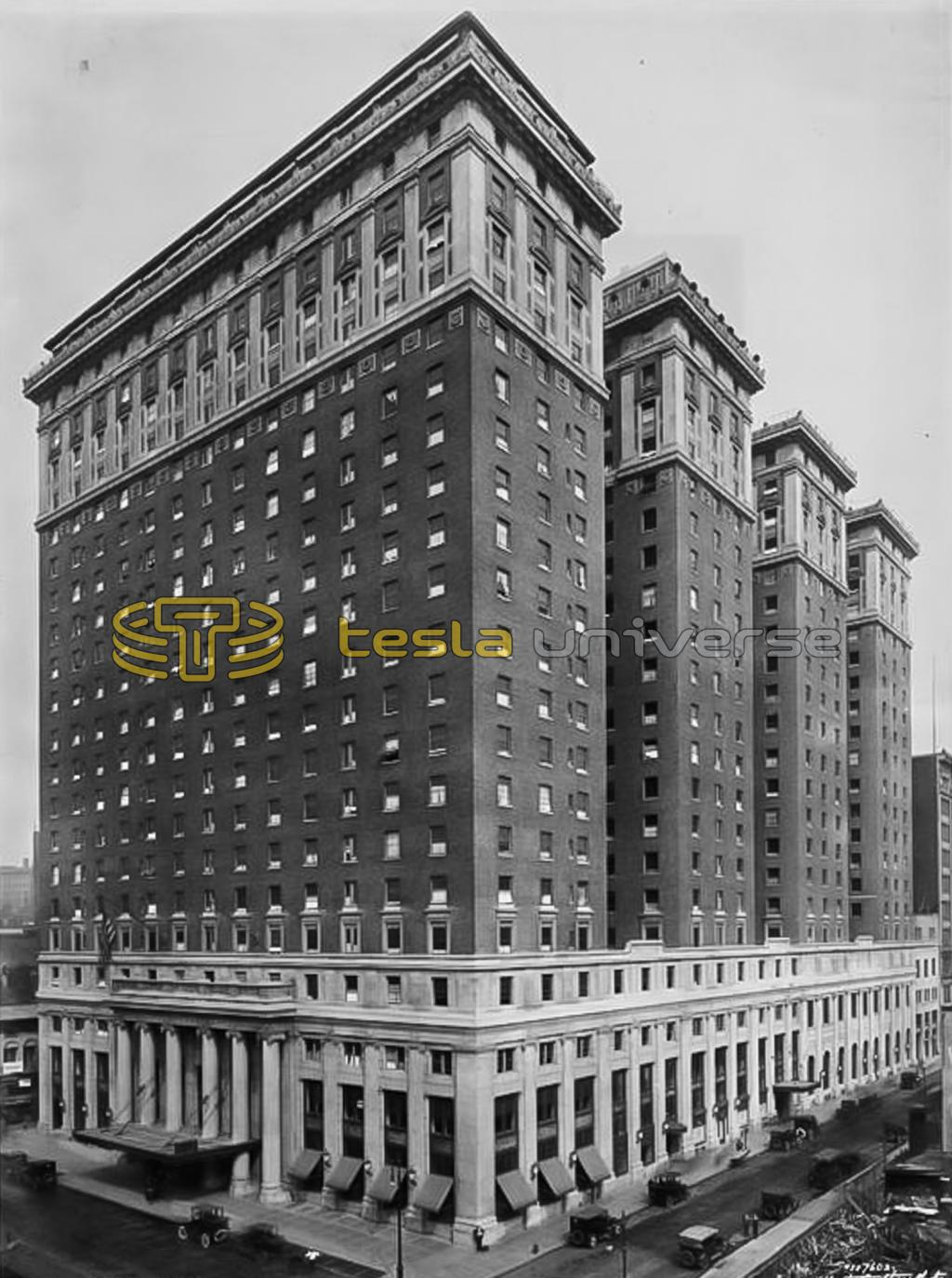 The Hotel Pennsylvania, New York City where Tesla lived briefly