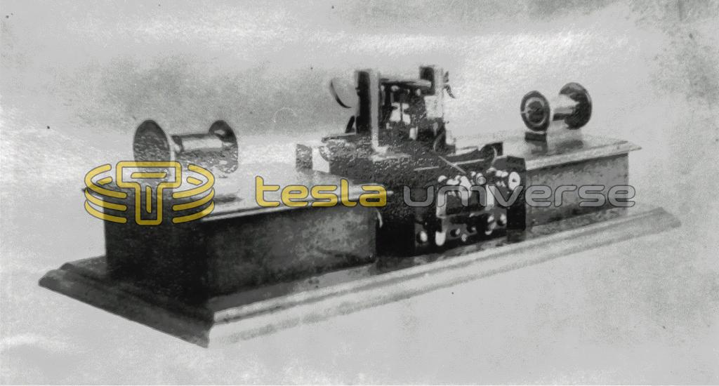 Early radio transmitter invented by Tesla