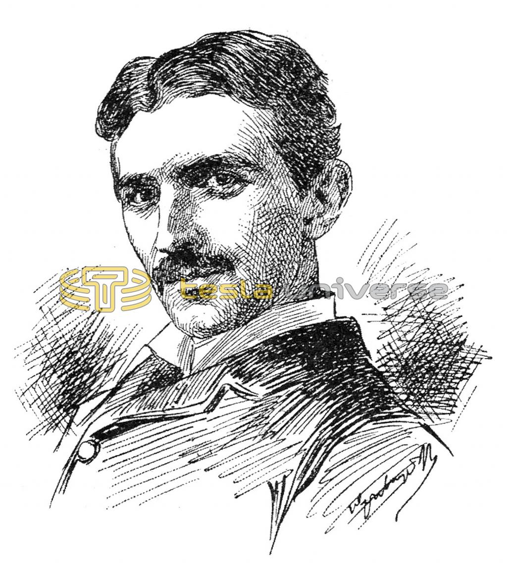 Drawing of the great inventor, Nikola Tesla