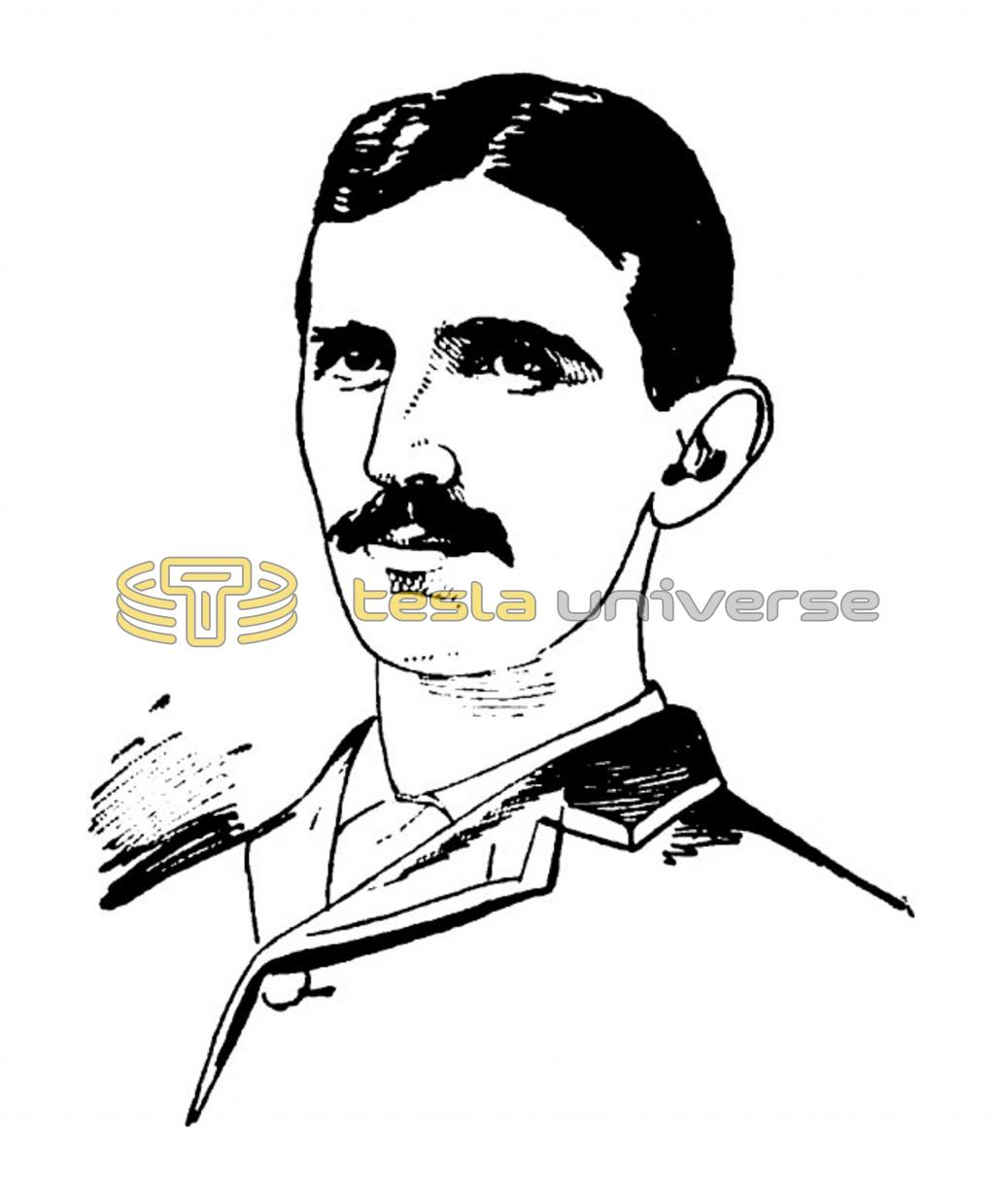 Sketch of a young Nikola Tesla