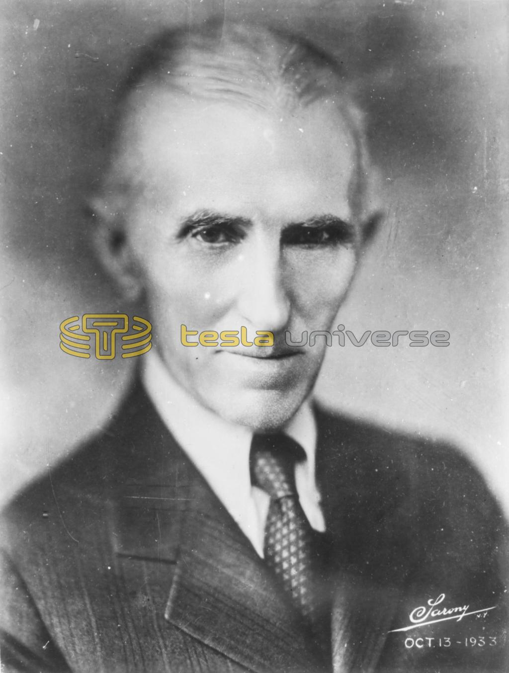 Sarony photograph of Nikola Tesla taken October 13, 1933