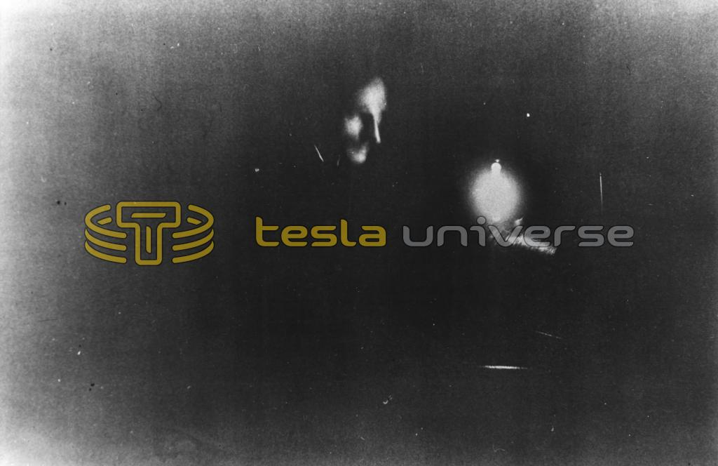 Nikola Tesla in the first photograph ever taken by phosphorescent light